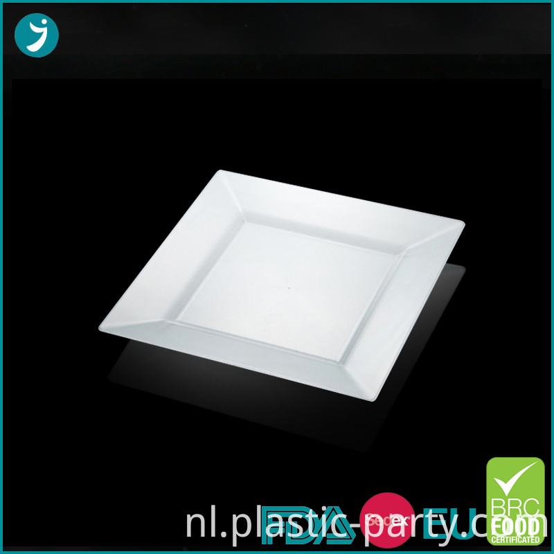 Disposable Plastic Plates Square 6.5 Inch